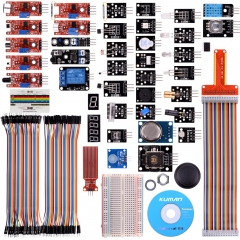 kuman Compatible For Arduino Raspberry pi Sensor kit 37 in 1 Robot Projects Starter Kits with Tutorials Compatible for Arduino RPi 3 2 Model B B K5