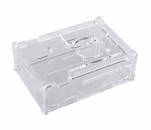 Kuman 3.5 inch LCD Screen Transparent Acrylic protective Case for Raspberry Pi 2 3