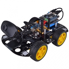 Kuman Smart 7.4V 4 wheel drive WiFi control HD Video Utility Robot Car Kit for Arduino project SM3